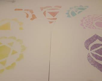 Chakra symbols set of seven