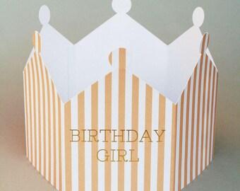 Birthday Girl Crown Card