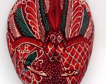 Mask Vintage traditional Indonesian Batik Tribal art