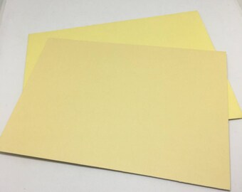 Yellow Envelope and Flatcard set  / Card Stock  / Card Making  / Paper Stock / yellow envelopes / yellow flat notecards / notes