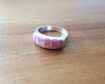 Pink opal ring. Silver 925