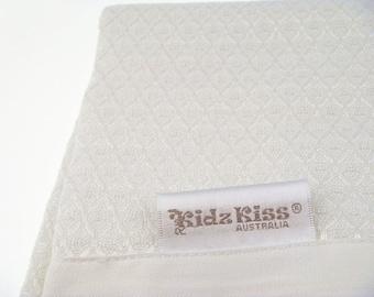 KIDZ KISS 100% Bamboo Bassinet Waffle Blanket [120cm x 80cm]