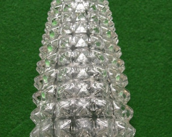 Vintage retro 1960s spiked glass light shade