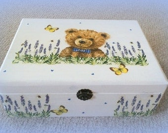 "Memory or toy chest ""Teddy bear with Lavendular"""