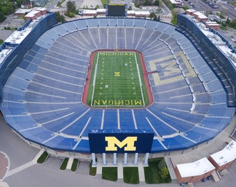 The Big House - University of Michigan Stadium in Ann Arbor (Wolverines College Football) Aerial Photo
