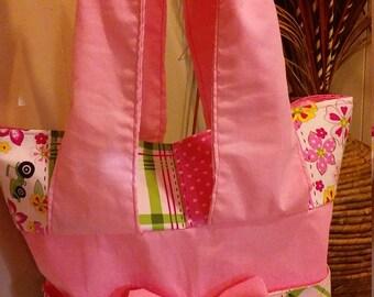 Pink John Deere diaper bag / tote