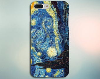 Starry Night Case for iPhone 5, 6, 6+, 7, 7+ and Samsung Note 5, s6, s7 Edge, s7