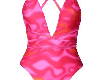 Handmade Amya One-piece Swimsuit - Psycho Pink
