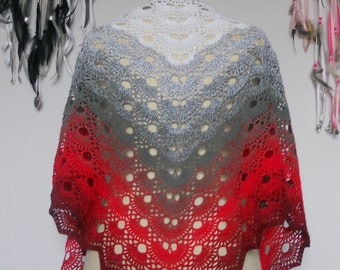 "Wonderful ""Virus"" hand crocheted shawl"