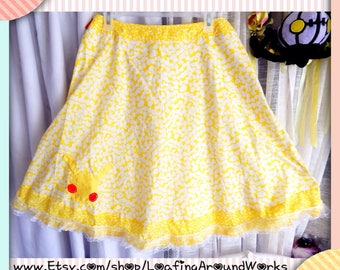 OOAK Pikachu Pokemon Lolita Skirt Cosplay New