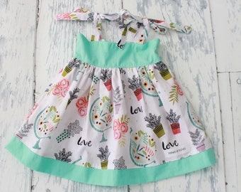 12 Month Girls Love the Earth Dress