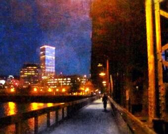Steel Bridge, Fine Art Photography, Portland Bridge Art