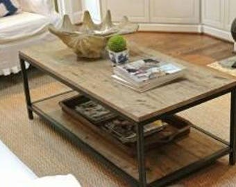 Coffee Table, Industrial chic, Table, Benches, Shabby, Wood