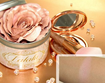 Highlighter Makeup Sissy 3D Highlighter Infused Rose Silver Pink Shimmer Mineral Makeup Vegan Natural Makeup, mothers day gift, Highlighter