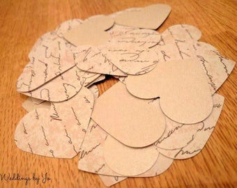 Vintage heart shaped table confetti - unique design!