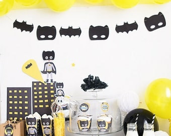 Printable party package Batman