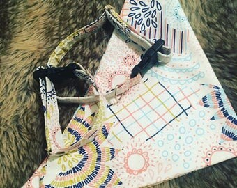 Custom Handmade Dog Collar and Matching Bandana in 'Pawty' Print!