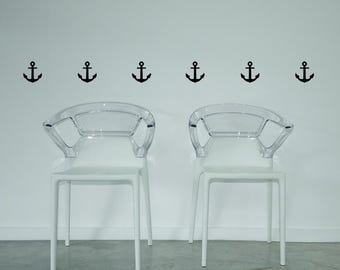 Anchors (Set of 6) - Removable Wall Decal, Wall Art, Home, Vinyl, Sticker