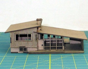 N scale trains etsy for Split level kit homes