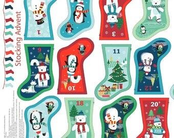 Frosty Christmas Mini Stockings Advent Calendar - KIT