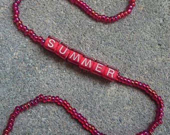 Red Summer Choker Necklace Free Shipping