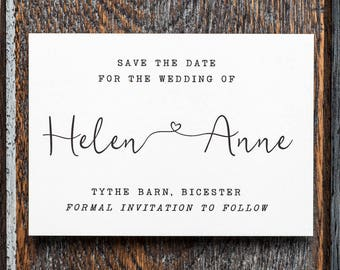 Rustic Save the date, Save the date, save our date, boho Save the date, barn save the date, barn wedding, boho wedding, rustic calligraphy
