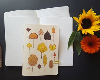 "Notebook ""autumn leaves Herbarium"""