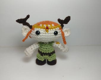 Keyleth Plushie, Ready to Ship, Critical Role, Geek and Sundry, Dungeons and Dragons, Crochet Doll, Amigurumi Doll, Gamer Toy