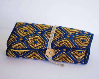 "Jewelry pouch travel ""Bobby"" yellow"