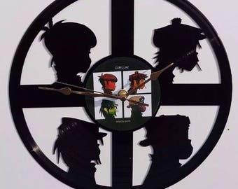 The Gorillaz Vinyl Record clock, vintage record, wall clock, classic iconic icon singer, music musician 00's pop grunge rock rap
