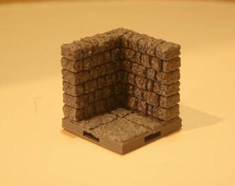 3D Dungeon Tiles - Corner Wall Tile