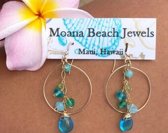 Hawaii, Maui, Hawaiian Jewelry, Beach Jewelry, Ocean Jewelry, Made in Hawaii, Handmade Jewelry, Moana, Beach earrings