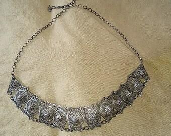 Vintage Turkish Sterling Silver Filigrine