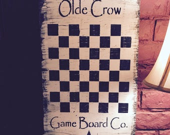 Olde Crow Primitive Wall hanging
