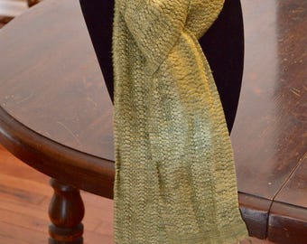Handwoven rayon scarf - 60 in x 4.5 in