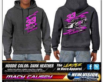Macy causey racing hoodie sweatshirt
