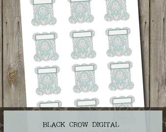 Cross Stitching Stitchers Embroidery Thread Floss Spools Bobbins Instant Digital Download Printable  PDF JPEG