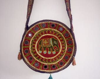 Embroided Indian Eliphant bag