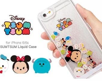 Disney Tsum Tsum Liquid Case For iPhone 6/6s, Liquid Glitter case for iPhone 6s, iPhone 6s case Disney, iPhone 6 Plus case Disney