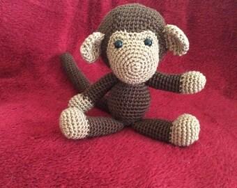 Doudou crochet monkey