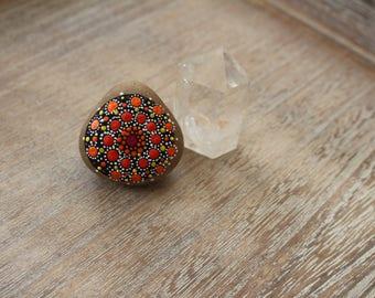 Mandala stone orange