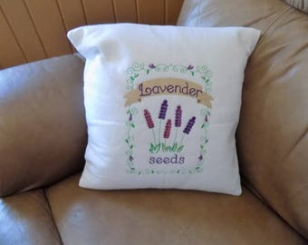 Lavender Seeds Packet Toss Pillow Cover