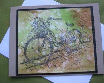 """Handmade Card - """"Bicycle"""""""