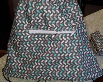 Custom Drawstring Backpack with Front Zipper Pocket!!!