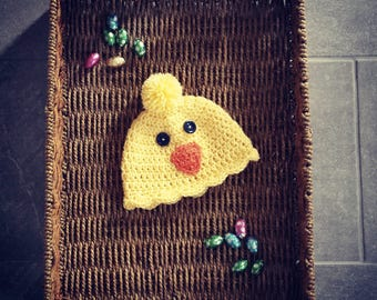 Spring Easter Chick Hat Baby Beanie