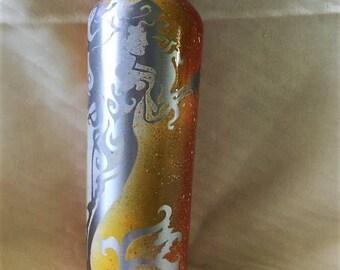 25 Oz Aluminum Water Bottle Custom Painted - Mermaid