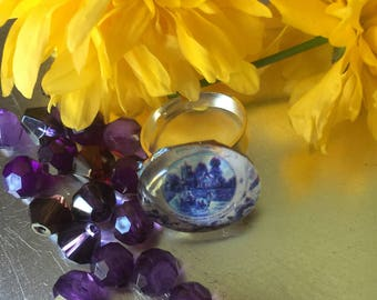 Glass Domed Picture Ring