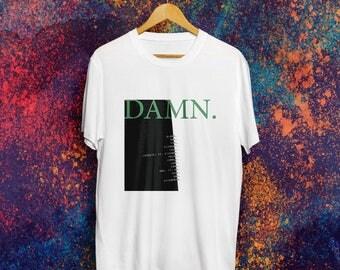 Kendrick Lamar DAMN. T shirt Kendrick Lamar Shirt Kendrick Lamar Hoodie Humble Tshirt Kendrick Lamar Merch Kendrick Lamar Humble T shirt