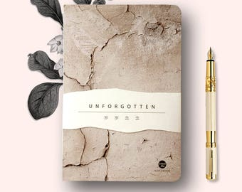 UNFORGOTTEN Notebook Sketchbook Blank Notenook Marble Notenook