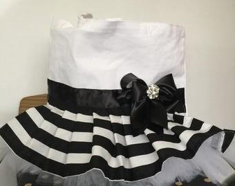 Black and white tutu bag